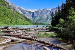 Avalanche Lake outlet in Glacier National Park
