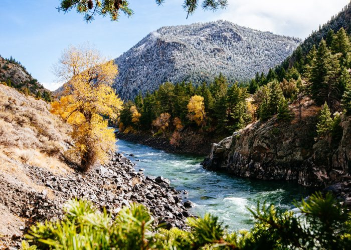Viewpoint next to Yellowstone River