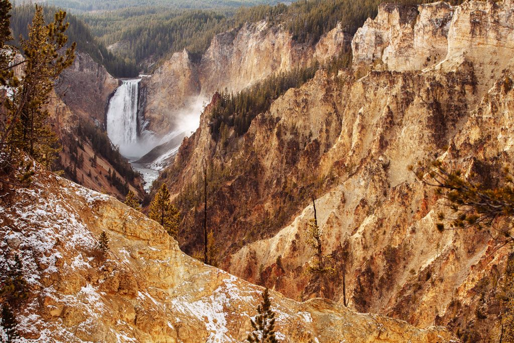 Yellowstone Falls and Canyon View - Yellowstone National Park